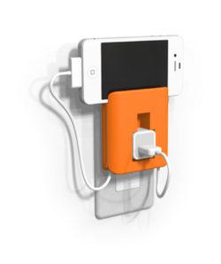 充電器ホルダー_使用図1_充電中