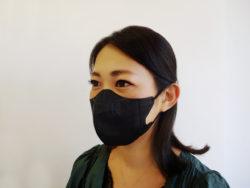 KM-307_立体黒マスク_小さめサイズ_KOKUBO小久保工業所_使用 2