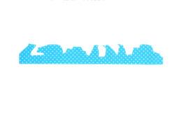 3718_防カビ結露吸水シート(シルエット)3枚入シロクマとペンギン_小久保工業所_絵柄
