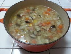 ヨードリップで野菜スープ