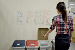 壁紙保護シート_小久保工業所_使用例3_ゴミ箱