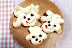 メレンゲ犬クッキー