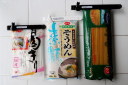 KM-341_キャットグレイスキッチンクリップLARGE&SMALL_KOKUBO小久保工業所_使用例_乾麺・パスタ