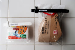 KM-341_キャットグレイスキッチンクリップLARGE&SMALL_KOKUBO小久保工業所_使用例_コーヒーフィルター・だし用パック