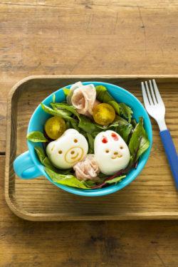 09ゆで卵と生ハムのサラダ_KOKUBO本「おうちごはんとおべんとう」