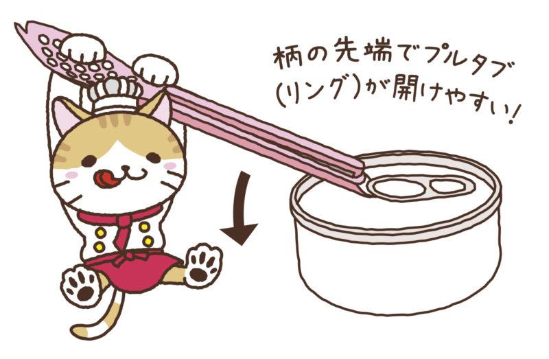 KK-473_猫缶スプーン_KOKUBO小久保工業所_イラスト2